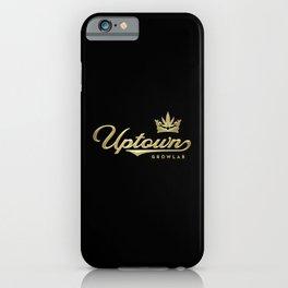 Uptown Growlab Gold Cannabis Crown and Script Wordmark iPhone Case