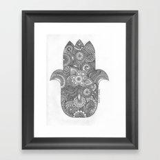 Hamsa - B&W Framed Art Print