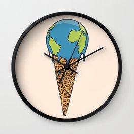 Earth Cream Cone Wall Clock
