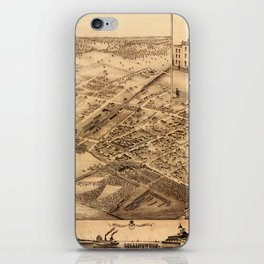 Map Of Collingwood 1875 iPhone Skin