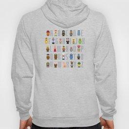 Pixel Muppet Show Alphabet Hoody