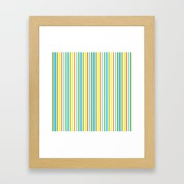 Colourful Pinstripes Framed Art Print