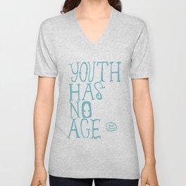 Youth Has No Age (Blue) Unisex V-Neck