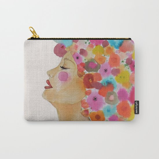 camelia in black Carry-All Pouch