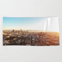 San Francisco Cityscape (Color) Beach Towel