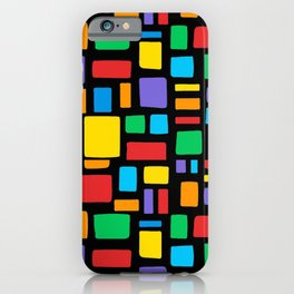 Abstract color pattern rainbow art Lgbt pride  iPhone Case