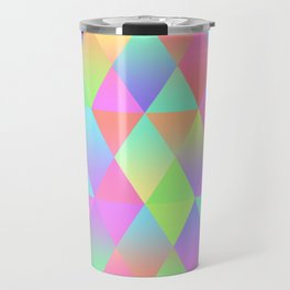 Colorful Geometric Pattern Prism Holographic Foil Triangle Texture Travel Mug