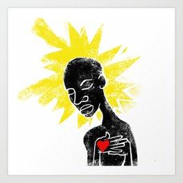 Santuaire de la vierge noire Art Print