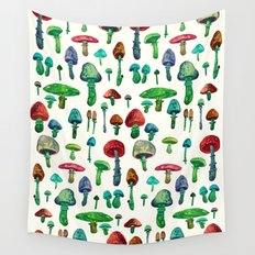 Mushrooms water Wall Tapestry
