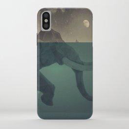 Elephant mountain iPhone Case