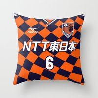2001 Throw Pillows featuring Omiya 2001 by Thomas Fiers