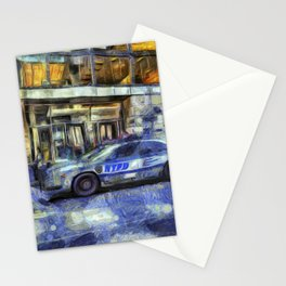 New York police Department Van Gogh Stationery Cards