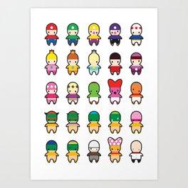 Super Mario Mumbles. Art Print