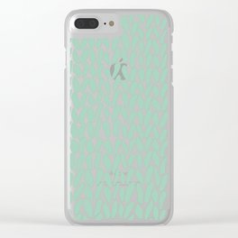 Hand Knit Zoom Mint Clear iPhone Case