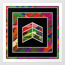 Geometric Fluidity Art Print