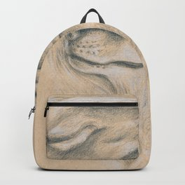 Wild Souls Snuggling Wolves Drawing Backpack