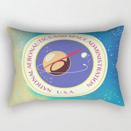 nasa vintage nebula space travel poster Rectangular Pillow