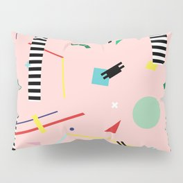 Memphis Geometry Lesson Pillow Sham