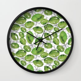 Lime Sunshine Wall Clock