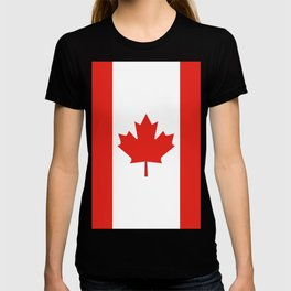 Red and White Canadian Flag T-shirt