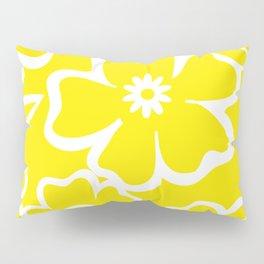 Yellow Flowers Fullfilled Pillow Sham