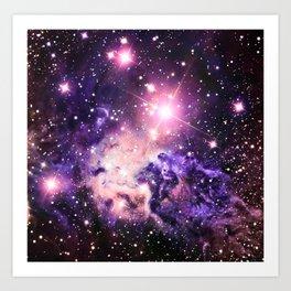 Fox Fur Nebula : Pink Purple Galaxy Art Print