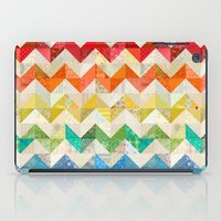 quilt iPad Cases featuring Chevron Rainbow Quilt by Rachel Caldwell