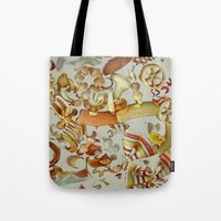 pasta Tote Bags featuring Pasta Love by Bella Blue Photography