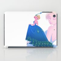 dress iPad Cases featuring Peacock Dress by Katikut