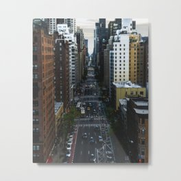 Tilt Shift Cars on a New York Street Metal Print