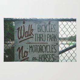 Park Sign Rug