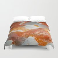 pasta Duvet Covers featuring Pasta in repeat pattern by Stefanie Sharp