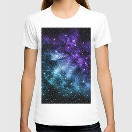 Purple Teal Galaxy Nebula Dream #1 #decor #art #society6 T-shirt