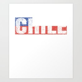 Chile Flag Vintage Chilean Country Gift Art Print