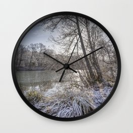 Sunrise across the Pond Wall Clock