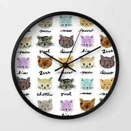 Kitty Language Wall Clock