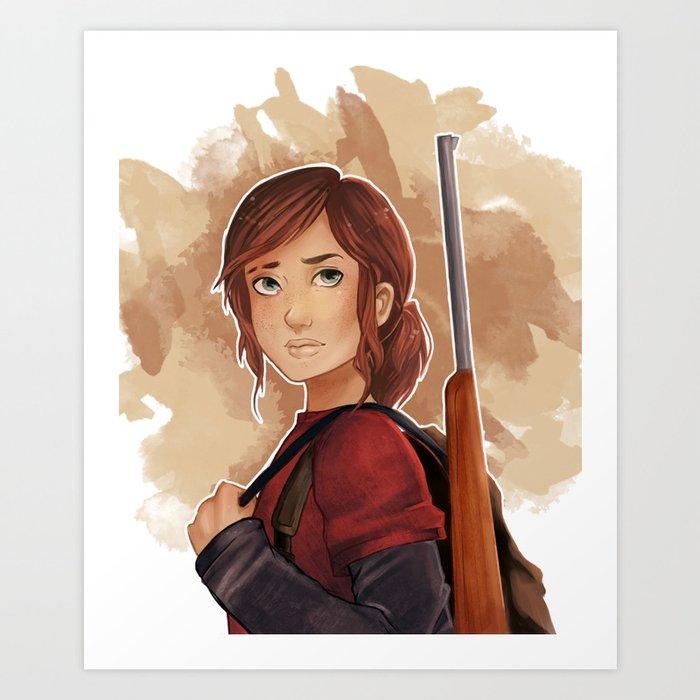 Ellie The Last Of Us Art Print By Effiaamendia