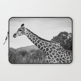 Giraffe walking in African Savanna Laptop Sleeve