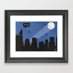 Bat-loween Framed Art Print