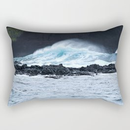 Blue Atlantic Wave on Lava | Pico Island | The Azores Rectangular Pillow