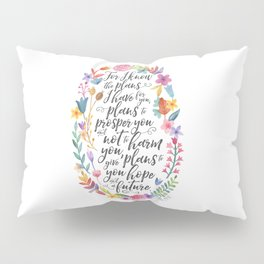 Hope and a Future - Jeremiah 29:11 Pillow Sham