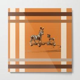 Butterscotch Stripes Metal Print