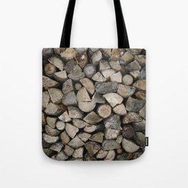 Wood Stack Tote Bag