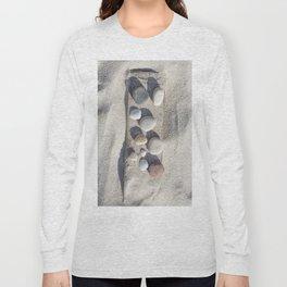 Beach pebble driftwood still life Long Sleeve T-shirt
