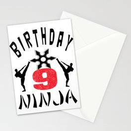 Kids Ninja B-Day Gifts for Boys And Girls Stationery Cards