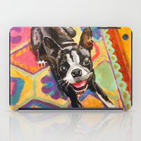 boston terrier iPad Cases featuring Boston Terrier by Good Artitude