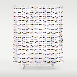 3D Movie Glasses pattern Shower Curtain