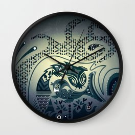 Midnight swirls Wall Clock