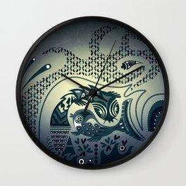 Midnight swirls Wall Clock