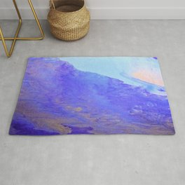 abstract art in blu Rug
